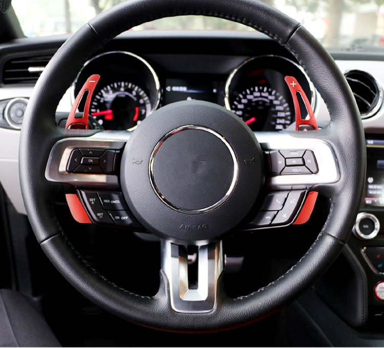 Car Styling for Mustang 2016 Steering Wheel Gear Shifters Paddle Aluminum Alloy Cover Trim for Ford Mustang 2015