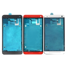 High quality For HTC One M7 / 801e Front Housing LCD Frame Bezel Plate Replacement
