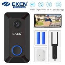 Videoportero inalámbrico inteligente EKEN con Wifi, intercomunicador, llamada de teléfono, timbre de puerta, cámara infrarroja, registro remoto, monitoreo de seguridad en el hogar