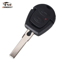Dandkey For Volkswagen VW Passat Polo Golf Sharan Bora 2 Buttons Remote Key Shell Case Fob With Uncut Blade