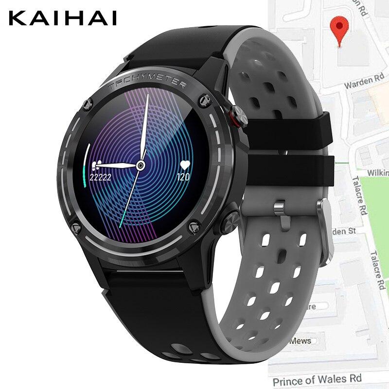 KaiHai gps позиционирование Смарт-часы Bluetooth Вызов музыка управление микрофон динамик часы компас smartwatch для android iphone