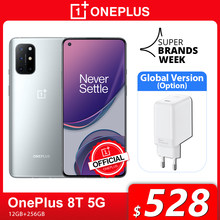 Global Rom OnePlus 8T 8 T OnePlus Official Store Snapdragon 865 5G Smartphone 12GB 256GB 120Hz Display fluido 48MP Quad Cams 65W carica ordito 4500mAh
