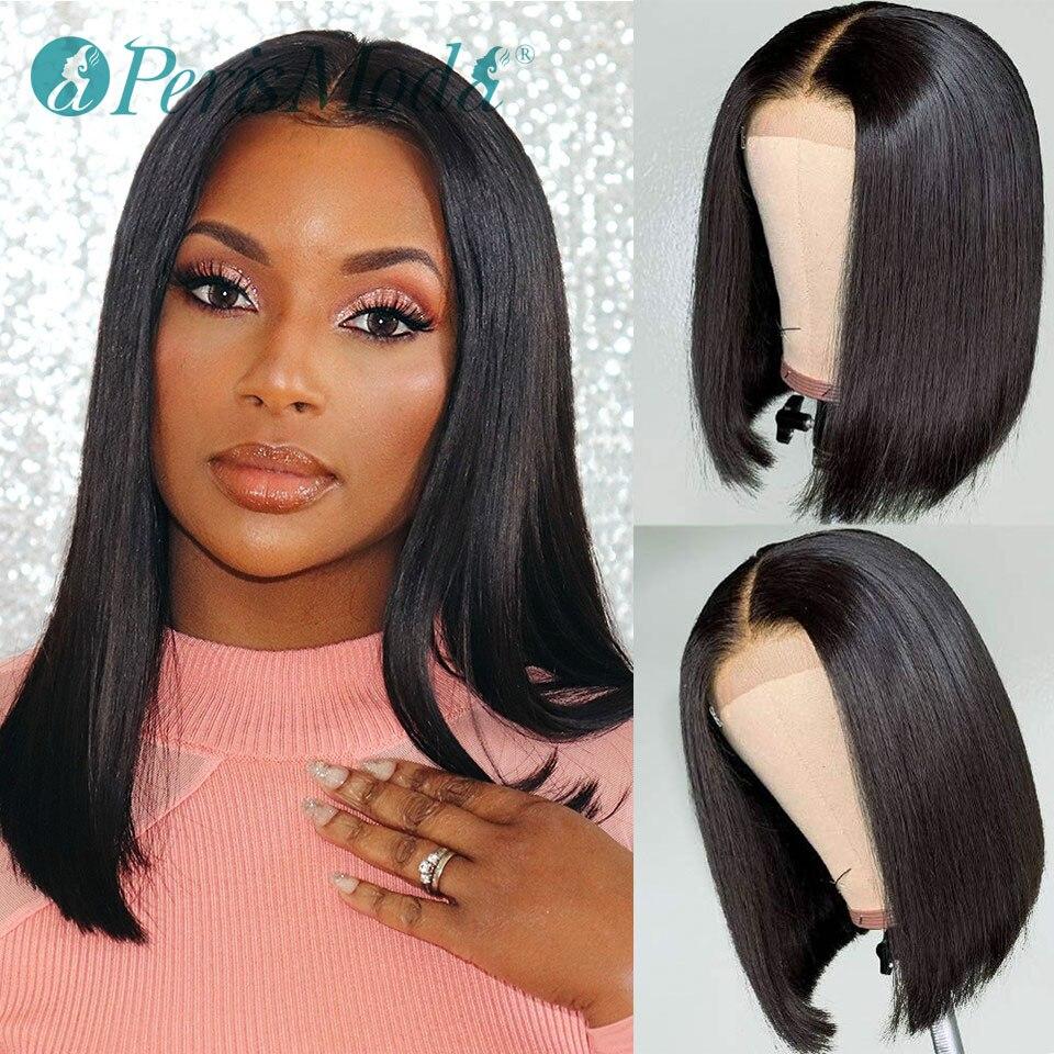 Peruca dianteira do laço sintético 12 14 16 Polegada reta bob peruca de cabelo para mulher perismoda resistente ao calor frete grátis peruca de cabelo sintético