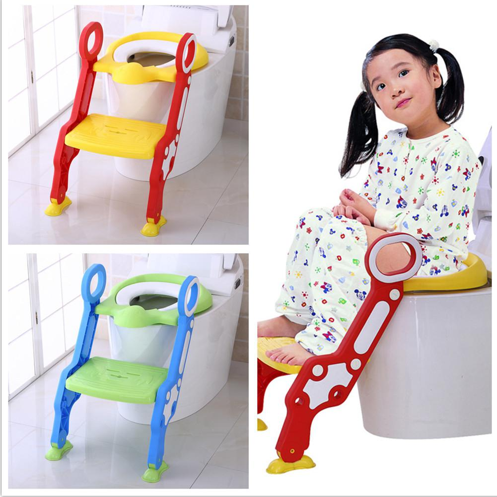 Kidlove Children Ladder Toilet Baby Toilet Ladder Foldable Multifunctional Toilet Seat Stool