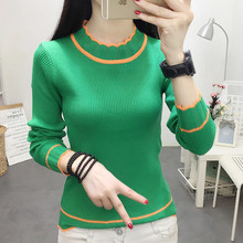 Women sweater Long Sleeve Tops 2019 Autumn Round Neck Knitted Sweater Fashion Clothing Outwear C363