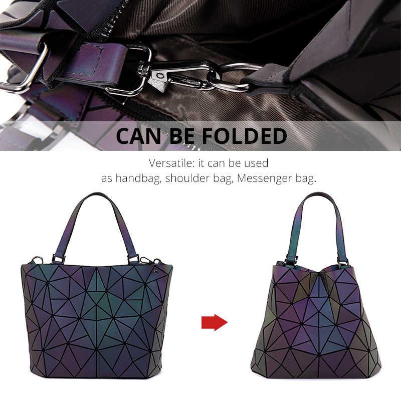 Женские сумки на плечо 3 комплекта роскошная дизайнерская складная сумка через плечо женская сумочка и кошелек для дам светящийся цвет