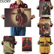 OLOEY 1 шт., 51,5x36 см, домашний декор, настенные наклейки, винтажная бумага, классический фильм, плакат, набор, украшение для бара