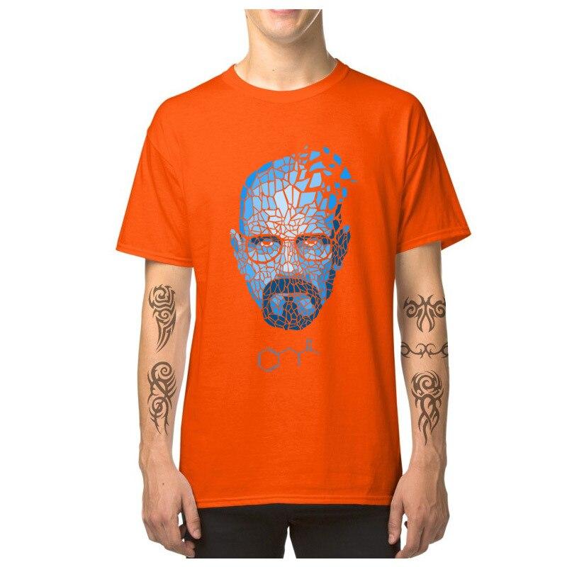 Heisenberg_Blue_-_Breaking_Bad_3256 Short Sleeve T Shirt Round Collar Pure Cotton Men T-shirts Cool Tops T Shirt Family Heisenberg_Blue_-_Breaking_Bad_3256 orange