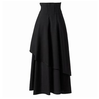 Jessica High Waist Skirts Asymmetrical Retro Style Sexy Pulling Rocks Long Skirt