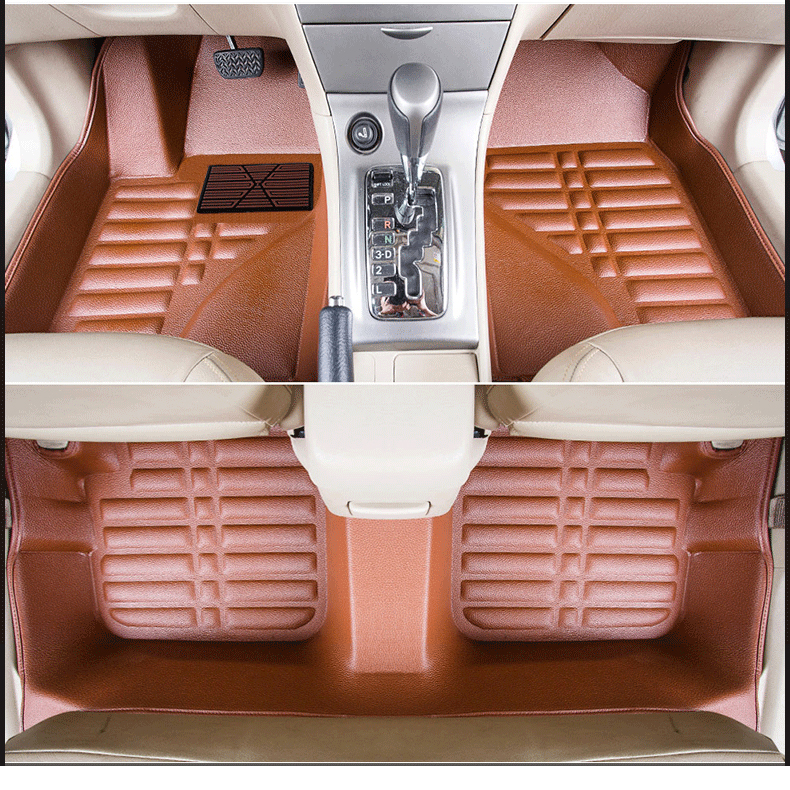 leather car floor mats for <font><b>toyota</b></font> <font><b>corolla</b></font> <font><b>E140</b></font> <font><b>E150</b></font> 2006 2007 2008 2009 2010 2011 2012 carpet accessories rug auto image