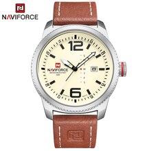 2020 יוקרה למעלה מותג NAVIFORCE גברים צבאי ספורט שעונים גברים של קוורץ תאריך שעון איש עור שעון יד Relogio Masculino
