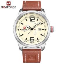 2020 en lüks marka NAVIFORCE erkekler askeri spor saatler erkek kuvars kol saati erkek deri kol saati Relogio Masculino