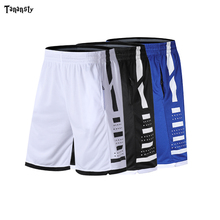 Men Basketball Shorts with Zipper Elastic Pocket Sport Basketball Sportswear Loose Jogging Shorts Youth White Black Blue