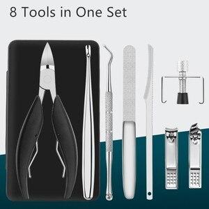 Image 2 - Professionele Roestvrij Staal Nagelriem Nipper Clipper Set Nail Manicure Pedicure Care Trim Tang Cutter Tool