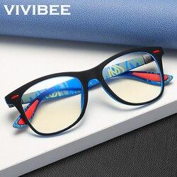 VIVIBEE Classic Blue Light Blocking Glasses Men Square Matte Black Women Anti Ray Lens Unisex Gaming Eyewear 2021 New Product