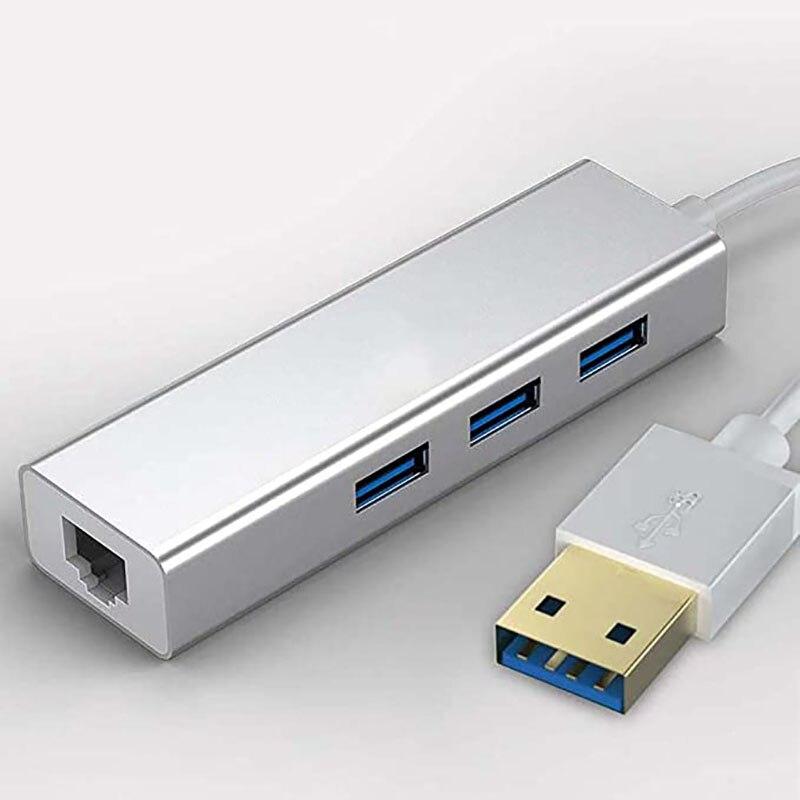 1000Mbps Ethernet Adapter,USB C HUB,3 Ports USB 3.0 HUB USB to RJ45 Gigabit Ethernet Adapter for Laptop Computer Accessories