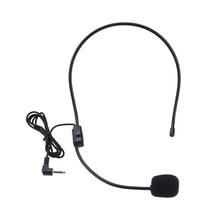 แบบพกพาชุดหูฟังไมโครโฟน3.5มม.แจ็คคอนเดนเซอร์Micสำหรับลำโพงสำหรับทัวร์ท่องเที่ยวการสอนการบรรยายไมโครโฟน