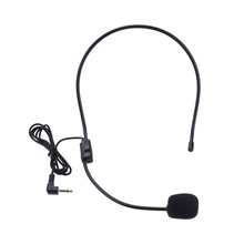Portable Headset Microphone Wired 3.5mm Jack Condenser with Mic For Loudspeaker For Tour Guide Teaching Lecture Microphone