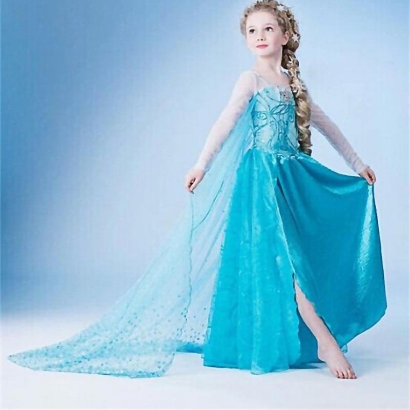 Halloween Cosplay Dress For Girls Princess Costume Christmas Children Dress Up Robe Fille Disfraz 5