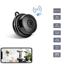 Tigenkey Mini caméra de surveillance intelligente IP WIFI Cloud hd 720P, dispositif de sécurité domestique sans fil, babyphone vidéo, avec Vision nocturne infrarouge et détection de mouvement