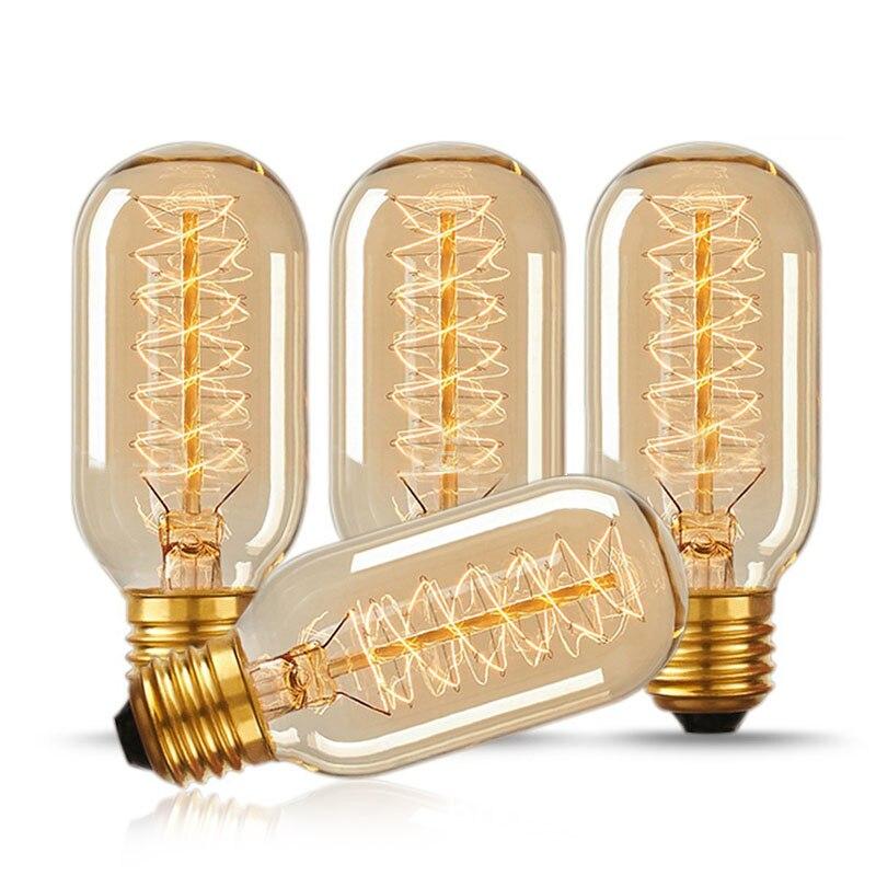 vintage Edison bulb E27 40w lampada retro lamp incandescent ampoule 220V For Decor Filament Bulb E27 Pendant Lights