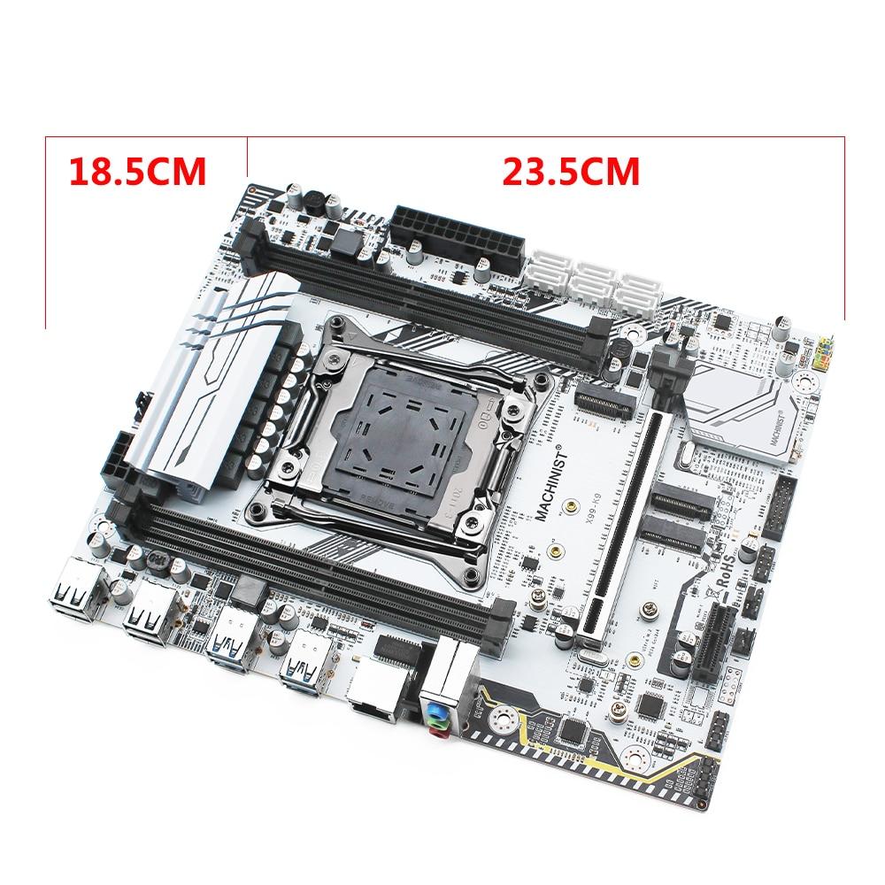 MACHINIST X99 motherboard LGA 2011-3 set kit with Intel xeon E5 4620 V3 processor DDR4 32GB 2666mhz RAM memory VRM FAN M-ATX 5