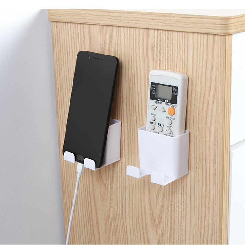 Room Wall Mounted Storage Rack Mobile Phone Mount Hanging Tablet Charging Multifunction Remote Control Holder Household Items