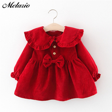 Melario Baby Girl Dress Long Sleeve Autumn Winter Dress 1 Year Birthday Princess Dresses Toddler Girls Christmas Clothes Vestido