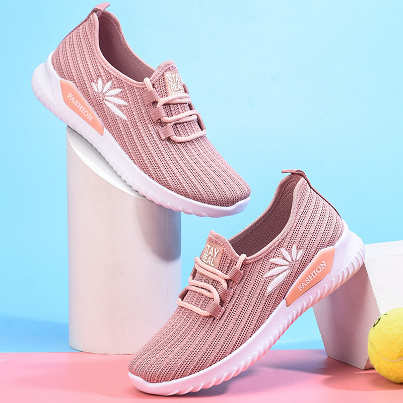 Women's Sport Shoes Female Brand Sneakers Woman Running Shoes Breathable Antislip Light Flats