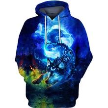 цена на PLstar Cosmos Spirit of the Night wolf 3d hoodies/shirt/Sweatshirt Winter long sleeve Pullover Fashion Harajuku streetwear