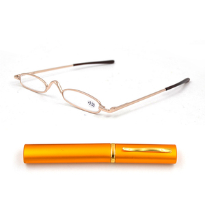 Image 2 - Di alta Qualità Ultra Slim Trim Occhiali Da Lettura, Metallo Mini Tubo Lettore, 10 pz/lotto Trasporto Libero includono + 1.25 + 1.75 + 2.25 + 2.75