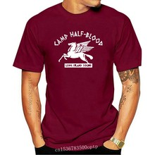 Camp Half Blood Mens Tshirt Long Island T-Shirt Halfblood Greek Inspired Movie Loose Size Tee Shirt