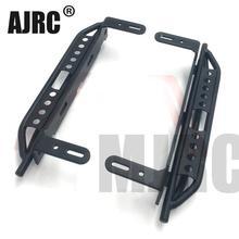1 זוג מתכת צד דוושת עבור 1/10 RC Crawler רכב Traxxas TRX4 Defender ברונקו צד משמר צלחת אלומיניום סגסוגת רגל דוושה