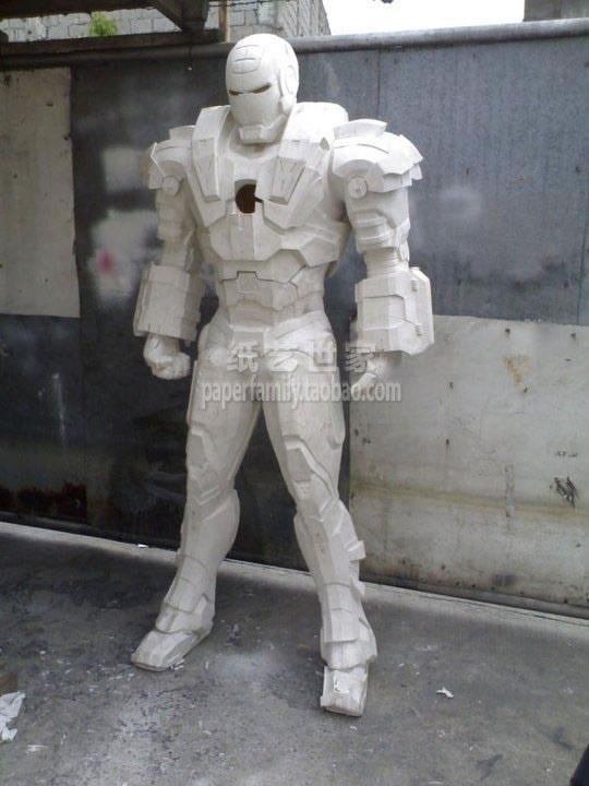 Movie Iron Man War Machine Helmet Armor 1:1 Wearable 3D Paper Model Cosplay