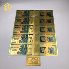 Dollar Zimbabwe Value-Currency-Collection Gold Banknote 100-1000pcs 100-Trillion/quintillion