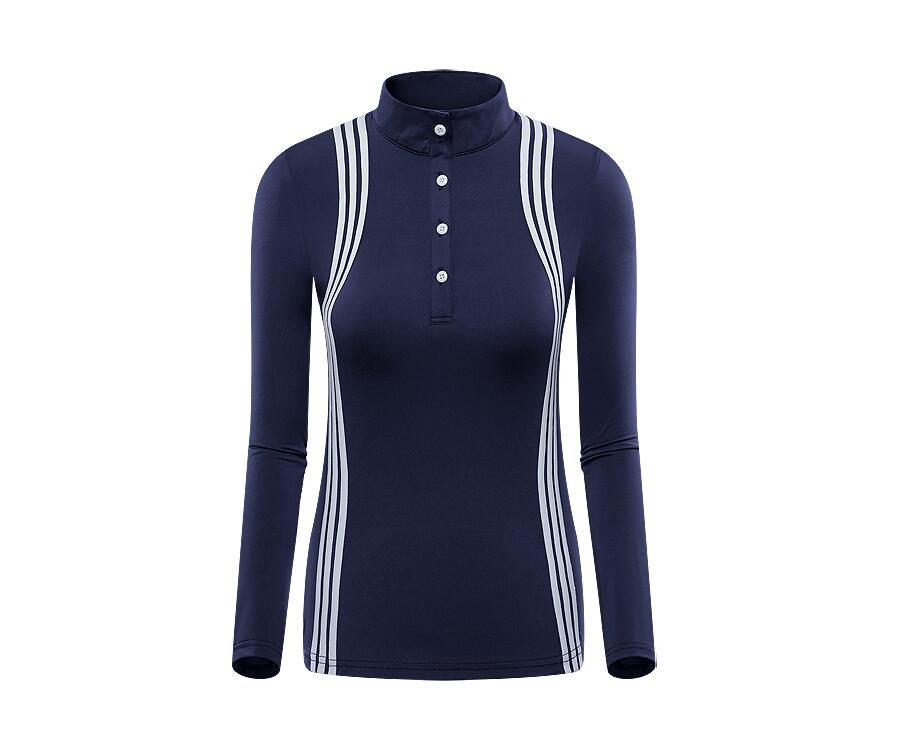 Golfe para Mulheres Quick-secagem-botão do Colarinho de Mangas T-shirt de Golfe Nova Outono Inverno Sportswear Respirável Compridas Protetor Solar Roupas 2020