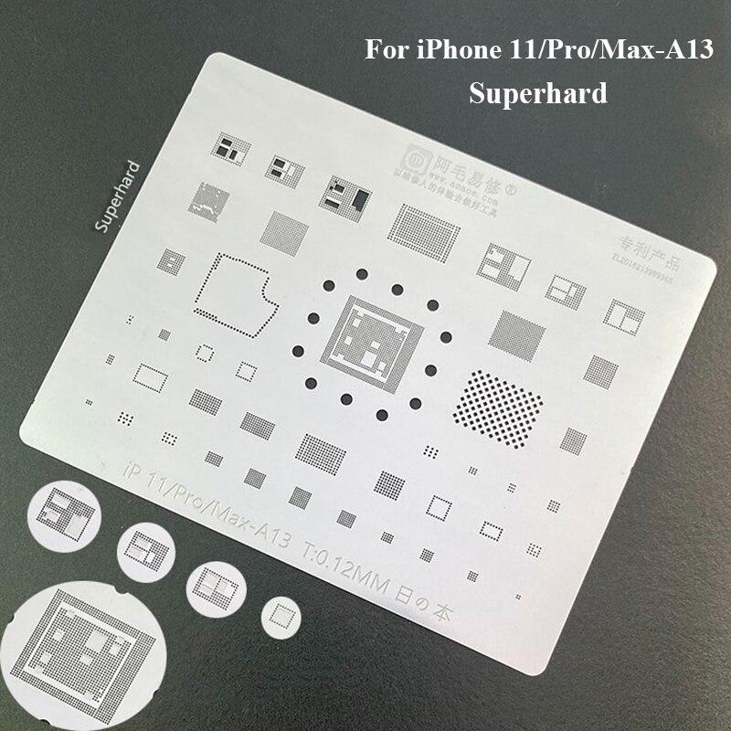 BGA Reballing Repair Net Stencil Heat Solder Kit for IPhone 5 to XS Max Chip