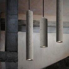 Скандинавские современные цемента подвесной светильник s новый