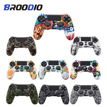 Soft Silicone Camo Gel Rubber Case Cover For SONY Playstation 4 PS4 Controller Protection Skin Case For PS4 DS4 Pro Slim Gamepad cool camouflage soft silicone cover case protection skin for sony playstation 4 ps4 for dualshock 4 controller console decals
