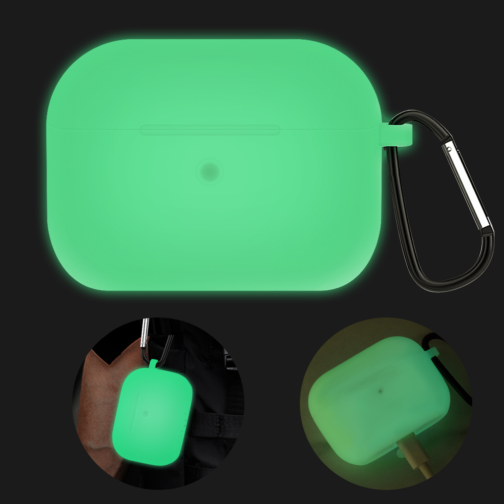 Earphone Box Accessories For Apple AirPods Pro Luminous Glowing Carrying Box Skin Sleeve Pouch Box For AirPods Pro Soft TPU Case