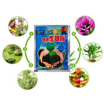 Fast Plant Flower Rooting Powder Quick Growth Transplant Fertilizer Flower Seeds Soil Fertilizer Hormone Root Sprout TSLM1 image