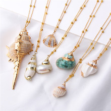 Summer Jewelry Bohemian Boho Conch Shells Necklace Sea Beach Shell Pendant For Women Collier