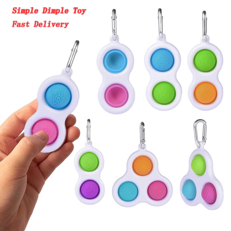 Neueste Zappeln Einfache Dimple Spielzeug Fett Gehirn Spielzeug Stress Relief Hand Zappeln Spielzeug Für Kinder Erwachsene Frühe Pädagogische Autismus Spielzeug