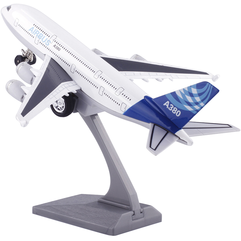 Alloy Aircraft <font><b>A380</b></font> Airliner <font><b>Airbus</b></font> Acoustooptic <font><b>A380</b></font> <font><b>Model</b></font> Children's Toys image