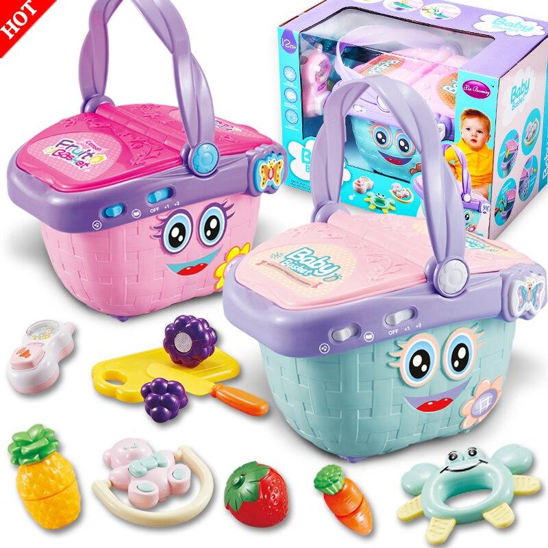 Panier de fruits multifonction de haute qualité/panier de rangement cuisine végétale hochet dentition bébé enfants semblant jouer jouets éducatifs