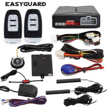 EASYGUARD EC010-MS PKE car Alarm Passive keyless Entry with Push Button Start & Remote Starter, Microwave Sensor Shock Alarm