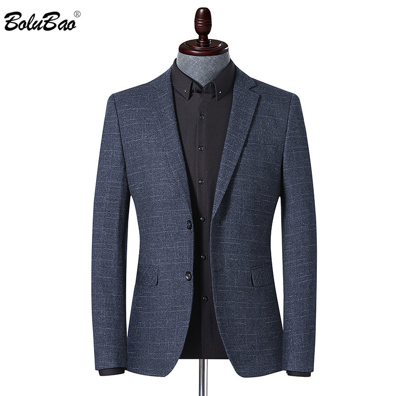 BOLUBAO Brand Men Blazer Fashion Men's Striped Print Spring Autumn Suit Jacket Business Casual Style Male Formal Blazers