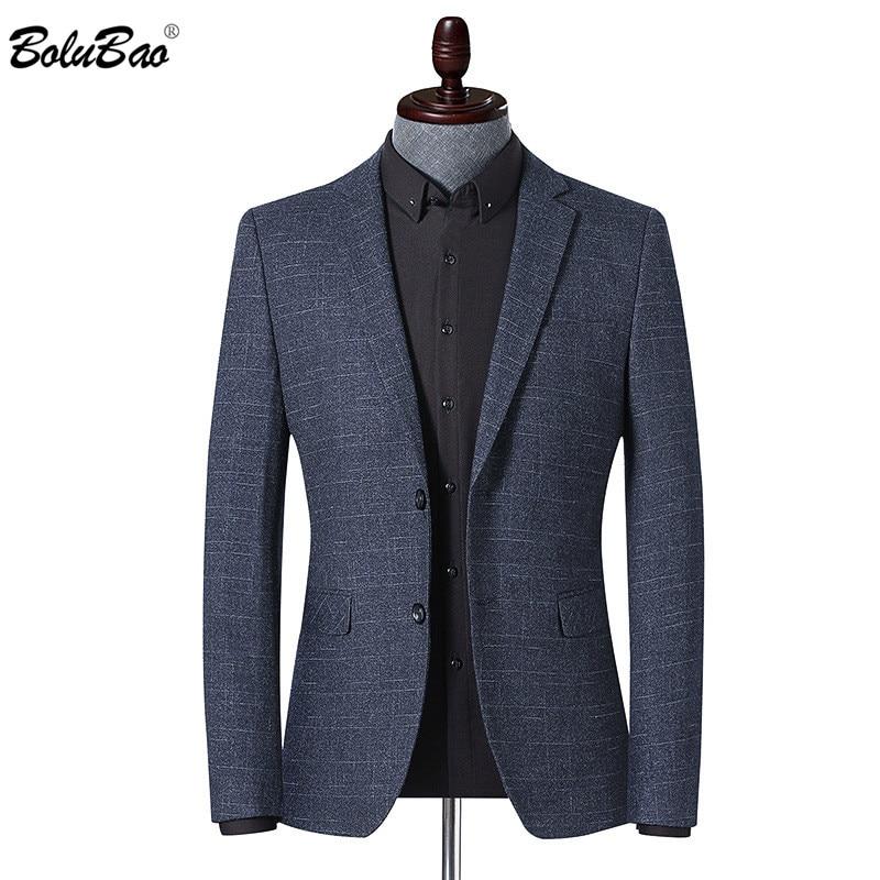 BOLUBAO Brand Men Blazer Fashion Men's Striped Print Spring Autumn Suit Jacket Business Casual Style Male Formal Blazers