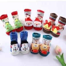 Рождество + новорожденный + ребенок + носки + младенец + хлопок + Санта + Клаус + снеговик + милый + носки ++ милый + шорты + носки + одежда + аксессуары + для + 0-1 лет