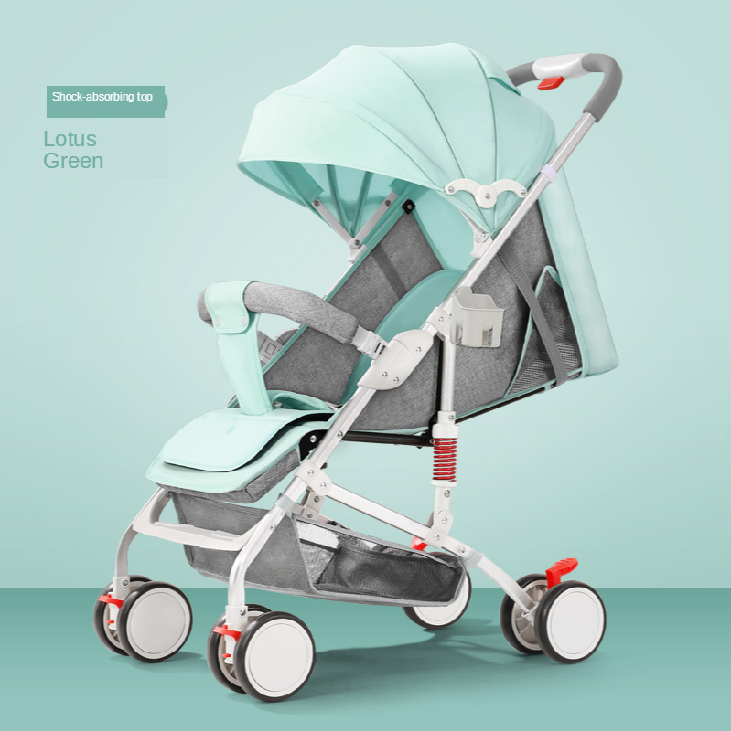 Hot-selling Baby Stroller Can Sit and Lie Lightweight Folding Four-wheel Shock Absorber Newborn Stroller Baby Stroller